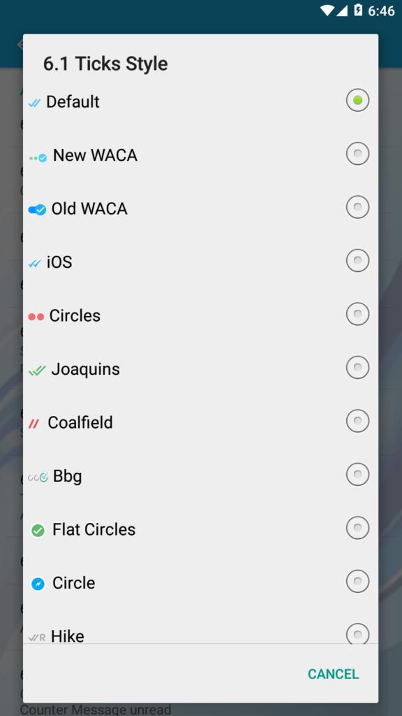azwhatsapp 10.40 tick styles